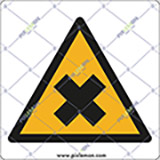 Adhesive sign cm 4x4 harmful chemicals