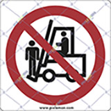 Adhesive sign cm 4x4 persons lifting prohibited