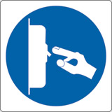 Adhesive sign cm 4x4 switch off when not in use