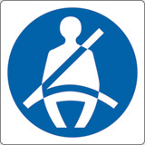 Adhesive sign cm 4x4 wear seat belts