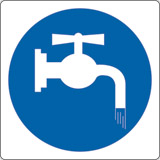Adhesive sign cm 4x4 close faucet