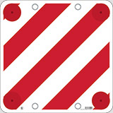 Corrugated plastic sign cm 50x50 for overhanging loads without conformity with eyelets and retro reflectors