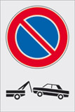 Adhesive sign cm 30x20 no parking
