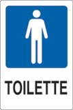 Adhesive sign cm 18x12 toilette gentlemen