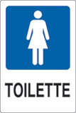 Adhesive sign cm 18x12 toilette ladies
