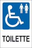 Adhesive sign cm 18x12 toilette disabled ladies and gentlemen