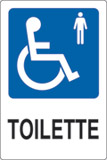 Adhesive sign cm 18x12 toilette disabled gentlemen