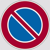 Adhesive sign diameter cm 10 no parking