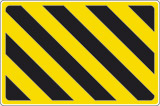 Striped warning signs