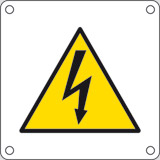 Aluminium sign cm 4x4 electrical hazard