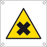 Aluminium sign cm 4x4 harmful chemicals
