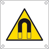 Aluminium sign cm 4x4 magnetic field