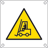 Aluminium sign cm 4x4 warning fork lift trucks