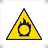 Aluminium sign cm 4x4 comburent