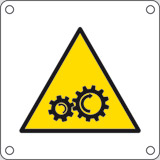 Aluminium sign cm 4x4 gear in motion