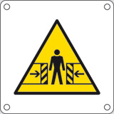 Aluminium sign cm 4x4 body danger