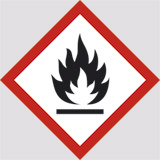 Adhesive sign cm 10x10 flammable substance