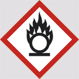 Adhesive sign cm 10x10 comburent