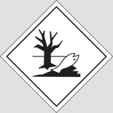 Adhesive sign cm 10x10 danger class hazardous to the environment