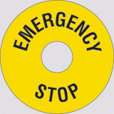 Adhesive sign diameter cm 6 inside cm 2,25 emergency stop