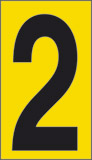 Adhesive sign cm 1x0,6 n° 60 2 yellow background black number