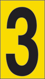 Adhesive sign cm 1x0,6 n° 60 3 yellow background black number
