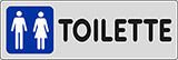 Adhesive sign cm 15x5 toilette ladies and gentlemen