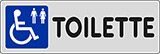 Adhesive sign cm 15x5 toilette disabled toilet
