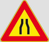 Iron sign with reflective adhesive class 1 side cm 90 road narrows