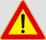 Iron sign with reflective adhesive class 1 side cm 90 other dangers