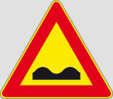 Iron sign with reflective adhesive class 1 side cm 90 uneven road
