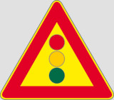 Iron sign with reflective adhesive class 1 side cm 90 traffic lights