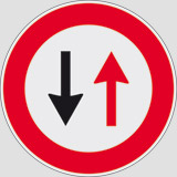 Iron sign with reflective adhesive class 1 diameter cm 60 oncoming traffic has priority