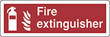 Self ahesive vinyl 30x10 cm fire extinguisher