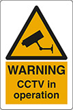 Self ahesive vinyl 30x20 cm warning cctv in operation