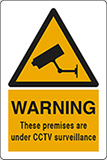 Self ahesive vinyl 30x20 cm warning these premises are under cctv surveillance