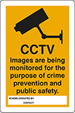 Self ahesive vinyl 30x20 cm cctv images are being monitored for the purpose of crime prevention and public safety scheme operated by:   concact: