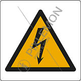 Adhesive sign cm 4x4 warning: electricity