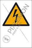 Aluminium sign cm 30x20 pictogram warning: electricity with empty writable space