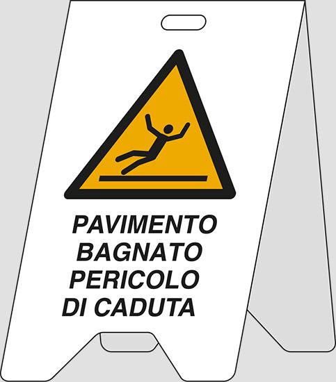Cartello polionda (bifacciale) PAVIMENTO BAGNATO ... | Pixlemon