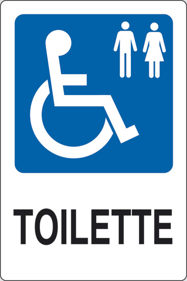 Amato Cartello TOILETTE (disabili uomini e donne) | Pixlemon JQ96