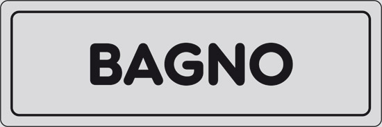 Cartello BAGNO | Pixlemon