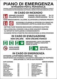Cartello Piano Di Emergenza Istruzioni Per Il Pixlemon