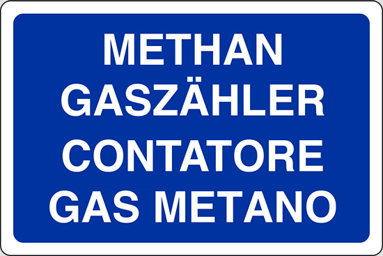 Cartello methan gasz hler contatore gas metano pixlemon for Taroccare contatore gas metano