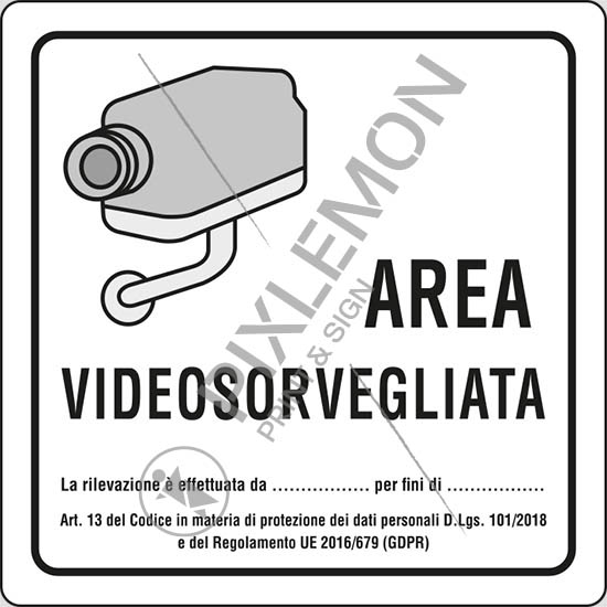 Cartelli videosorveglianza da stampare in pdf