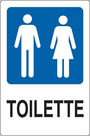 Cartello adesivo cm 18x12 toilette uomini e donne