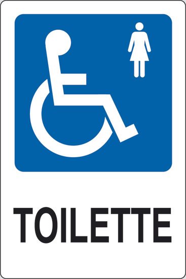 cartello toilette disabili donne