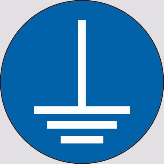 Simbolo messa a terra cartello diametro 1 2 n 176 49 messa - Casa senza messa a terra ...