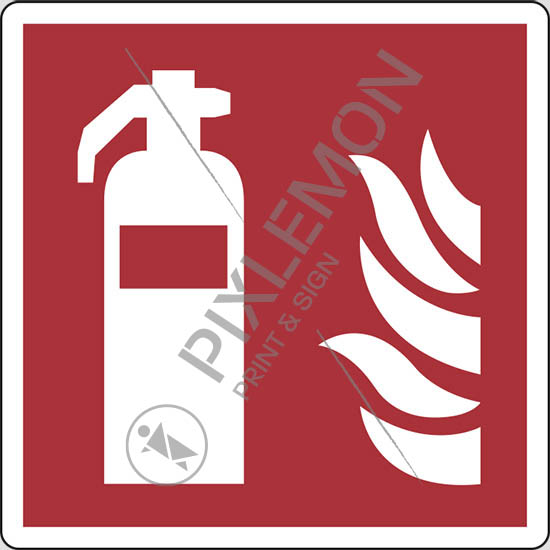 Cartello estintore fire extinguisher pixlemon - Estintore in casa ...