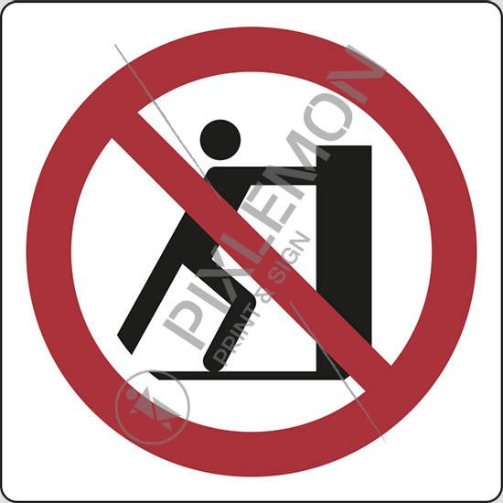 Cartello vietato spingere no pushing pixlemon for Espejo que no invierte la imagen